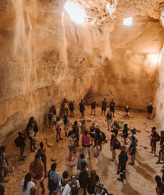 Worship at King Herod's amphitheater