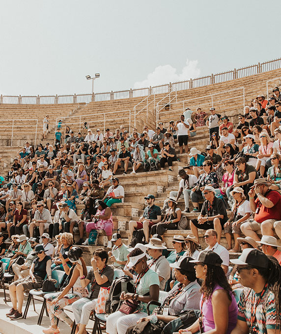 Worship at King Herod's amphitheater